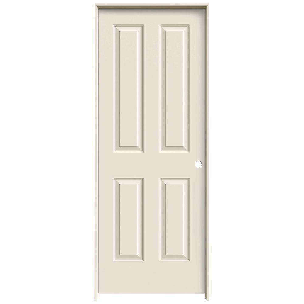 JELD-WEN 24 in. x 80 in. Coventry Primed Left-Hand Smooth Molded Composite MDF Single Prehung Interior Door
