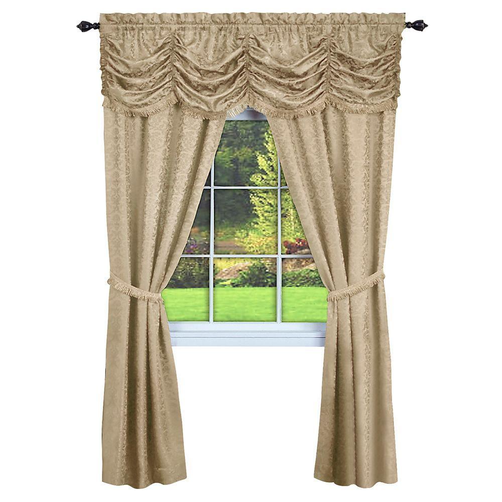 9c8811b3a970 Semi-Opaque Panache Tan Window in A Bag Curtain - 55 in. W x