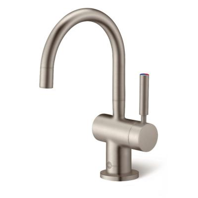 Indulge Modern Single-Handle Instant Hot and Cold Water Dispenser Faucet in Satin Nickel