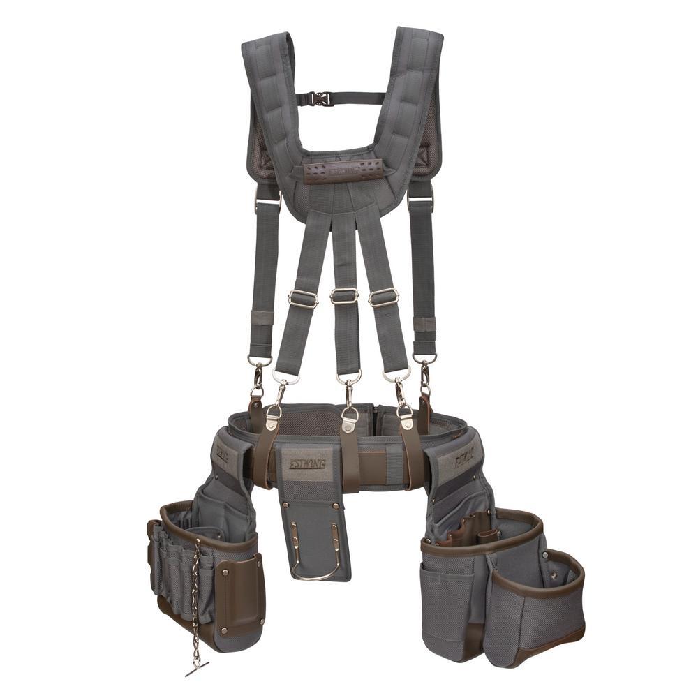 13-Pocket Electrician/Tradesman's Rig with Suspenders