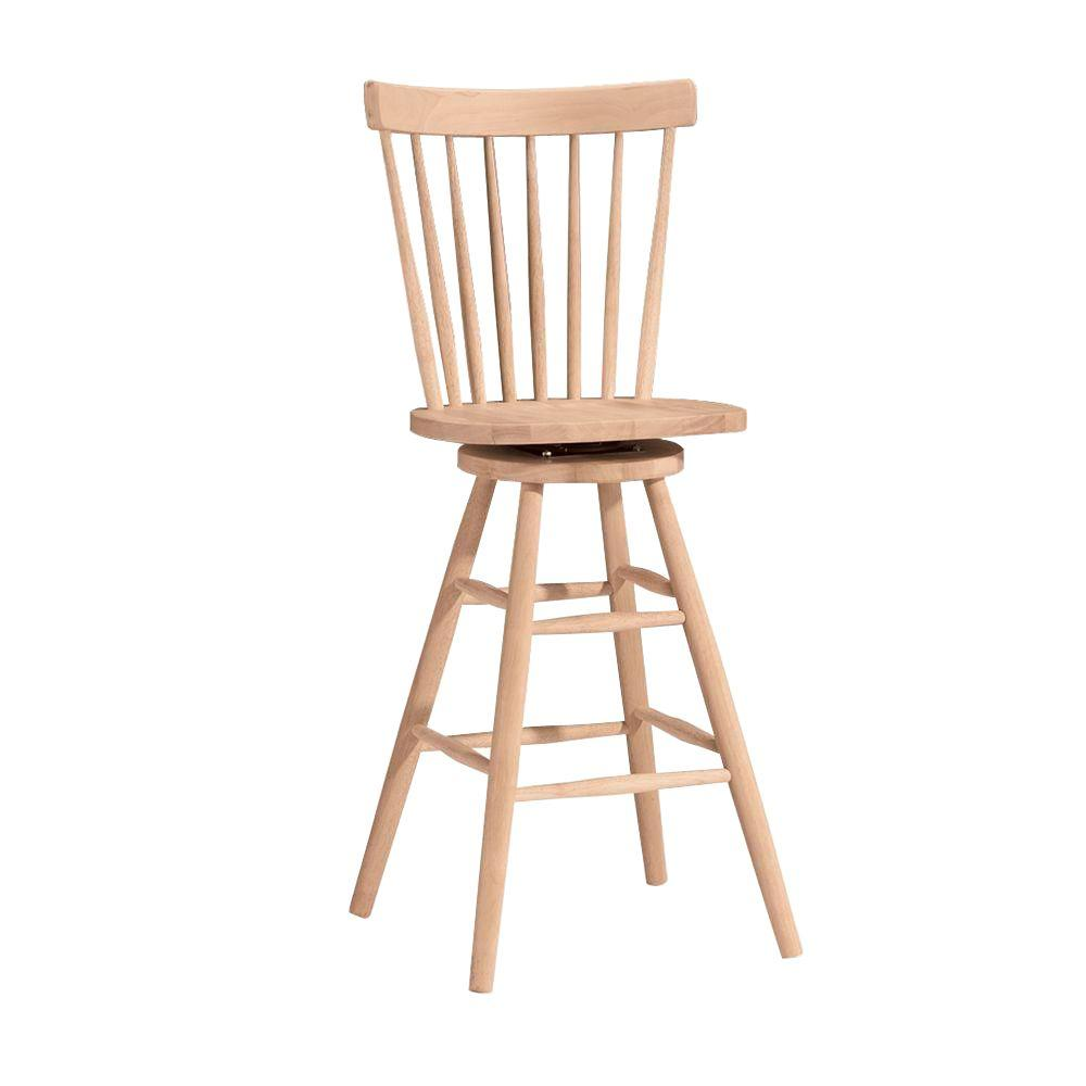 Amazing 30 In Unfinished Wood Swivel Bar Stool Onthecornerstone Fun Painted Chair Ideas Images Onthecornerstoneorg
