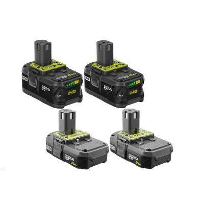 18-Volt ONE+ Battery Kit with (2) 2.0 Ah and (2) 4.0 Ah Batteries
