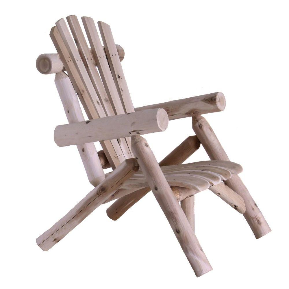 Lakeland Mills Cedar Log Patio Lounge Chair  sc 1 st  Home Depot : log adirondack chairs - Cheerinfomania.Com