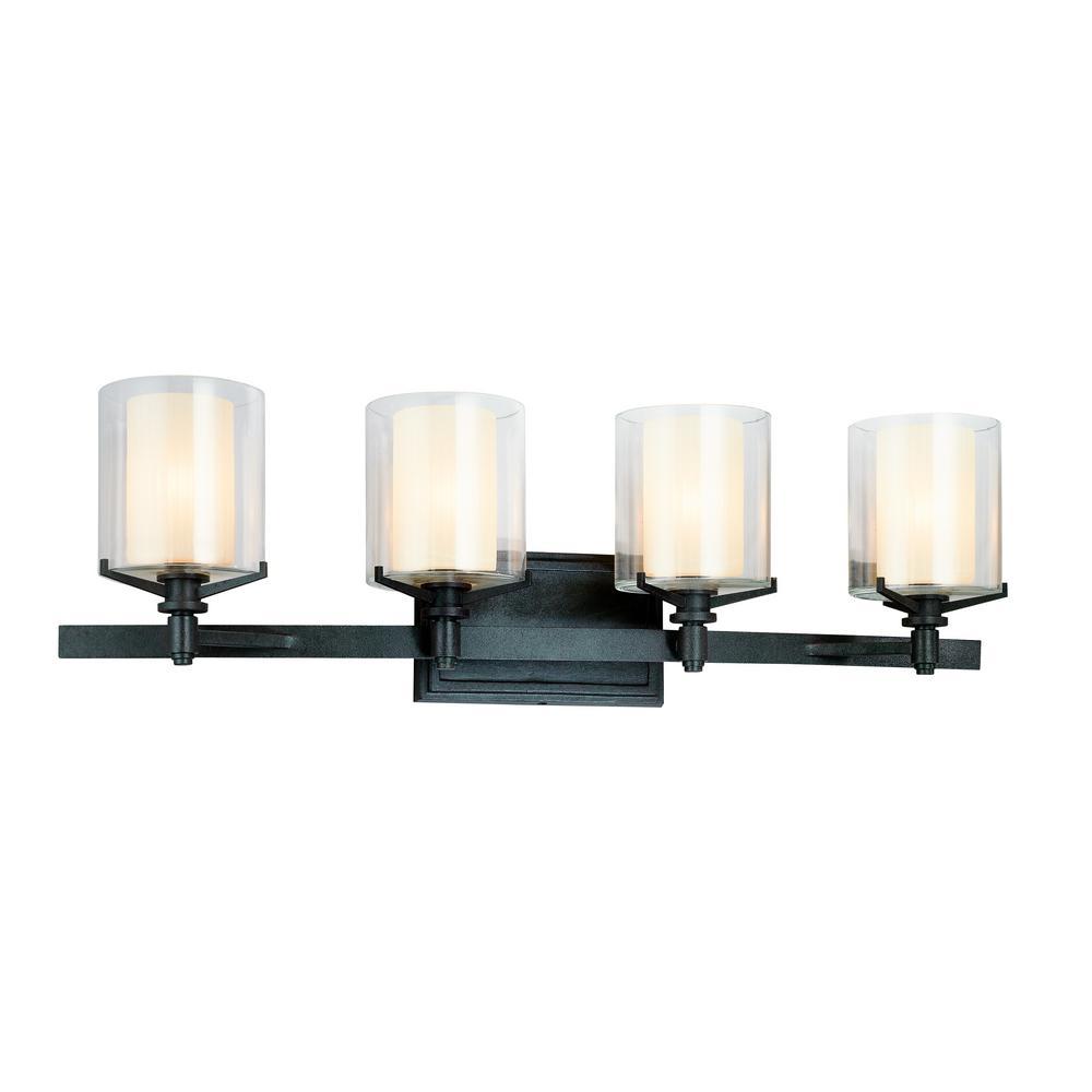 troy lighting arcadia 4 light french iron bath light b1714fr the