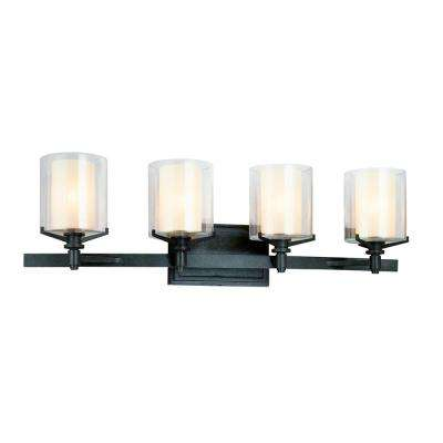 Arcadia 4-Light French Iron Bath Light