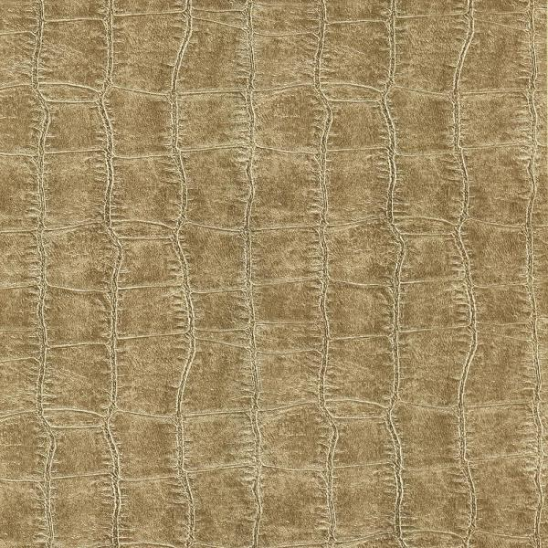 Brewster 8 in. x 10 in. Cairo Taupe Leather Wallpaper Sample