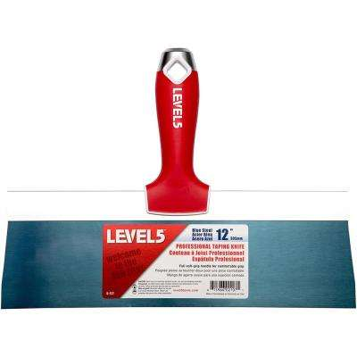 12 in. Blue Steel Taping Knife with Soft Grip
