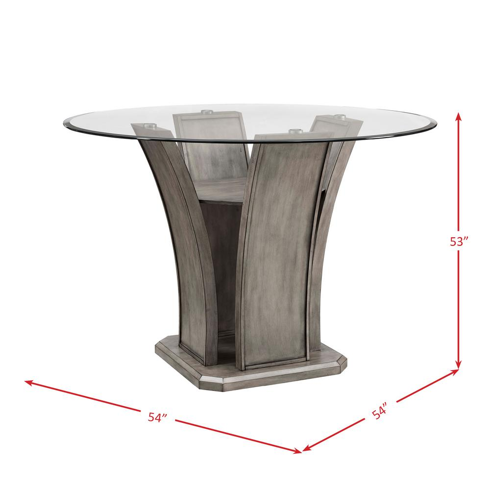 Fabulous Dylan Gray Round Counter Dining Table Dds100Cdt The Home Depot Ocoug Best Dining Table And Chair Ideas Images Ocougorg