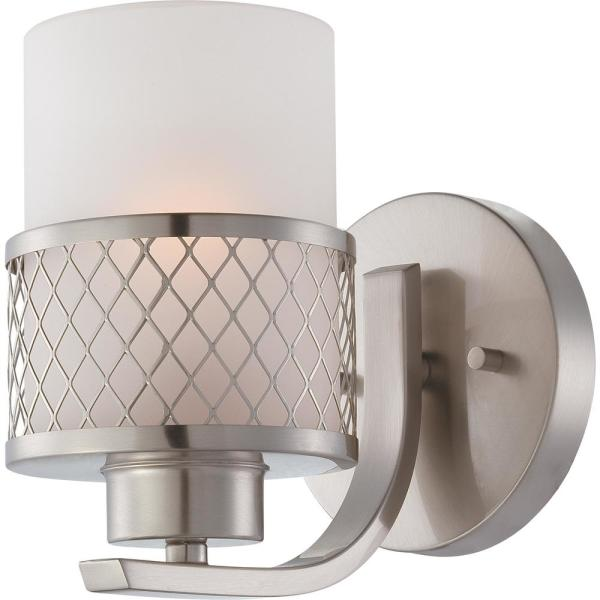 Brooklyn 1-Light Brushed Nickel Sconce