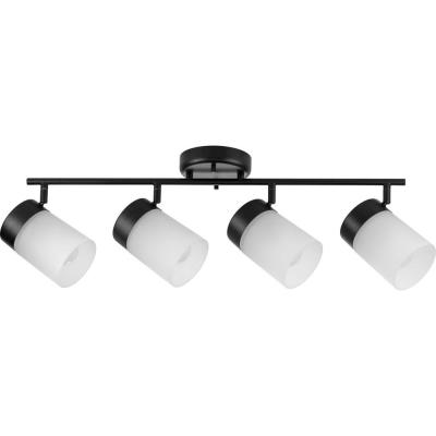 Ridgecrest 4-Light Black Incandescent Track Lighting Head