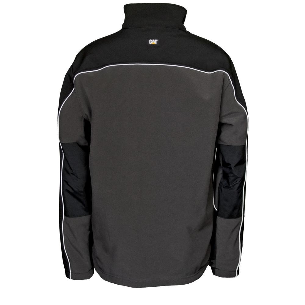 Caterpillar Soft Shell Mens Large Graphiteblack Polyesterspandex Water Resistant Jacket