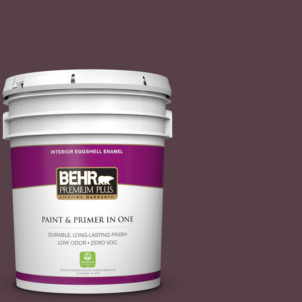BEHR Premium Plus Home Decorators Collection 5 Gal. #HDC CL 07 Dark Berry  Eggshell Enamel Zero VOC Interior Paint And Primer In One 230005   The Home  Depot