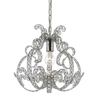 Splendor 1-Light Chrome Mini Chandelier