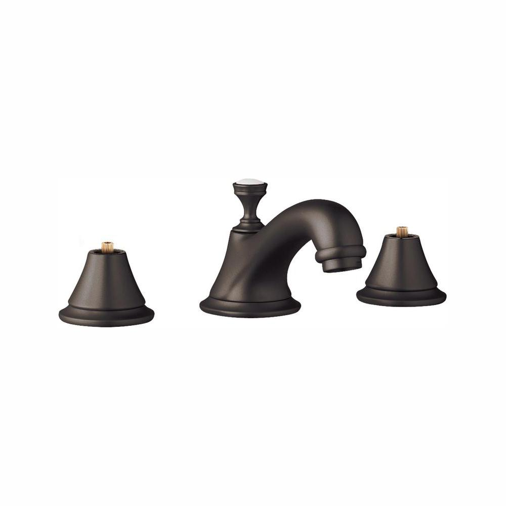 GROHE Seabury 8 in. Widespread 2-Handle 1.2 GPM Bathroom Faucet in Oil Rubbed Bronze
