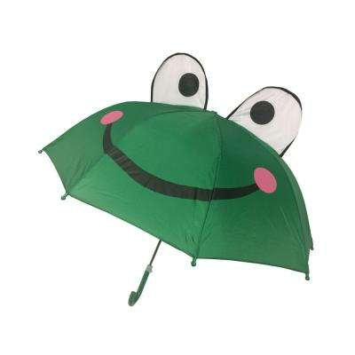 Kingstate 38 in. Arc Childrens Animal Head Umbrella in Frog