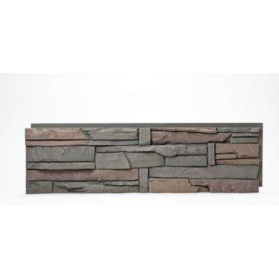 Stacked Stone Keystone 12 in. x 42 in. Faux Stone Siding Half Panel