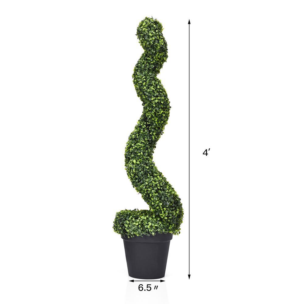 Costway Indoor Outdoor Artificial Spiral Topiary Tree Office