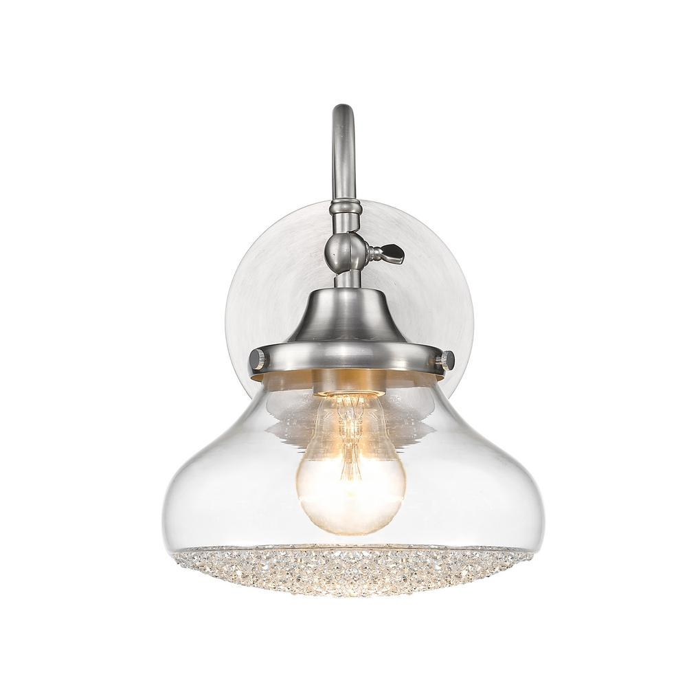 Golden lighting asha 1 light pewter bath light