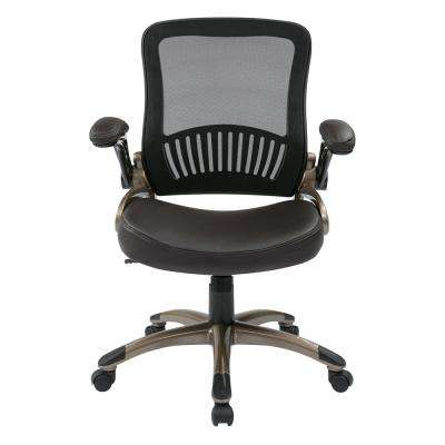 Espresso Bonded Leather Screen Back and Seat Manager's Chair