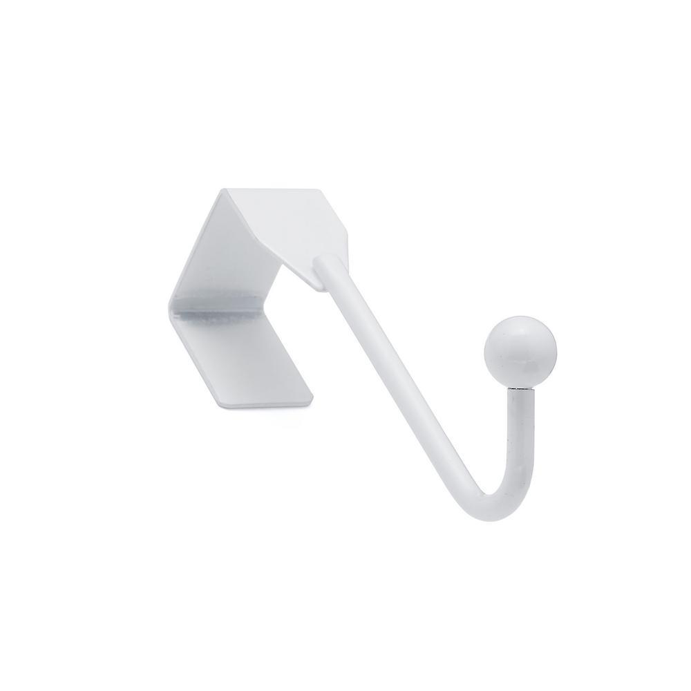 Richelieu Hardware Nystrom 1 In White Single 5 Lb Over The Door Hook