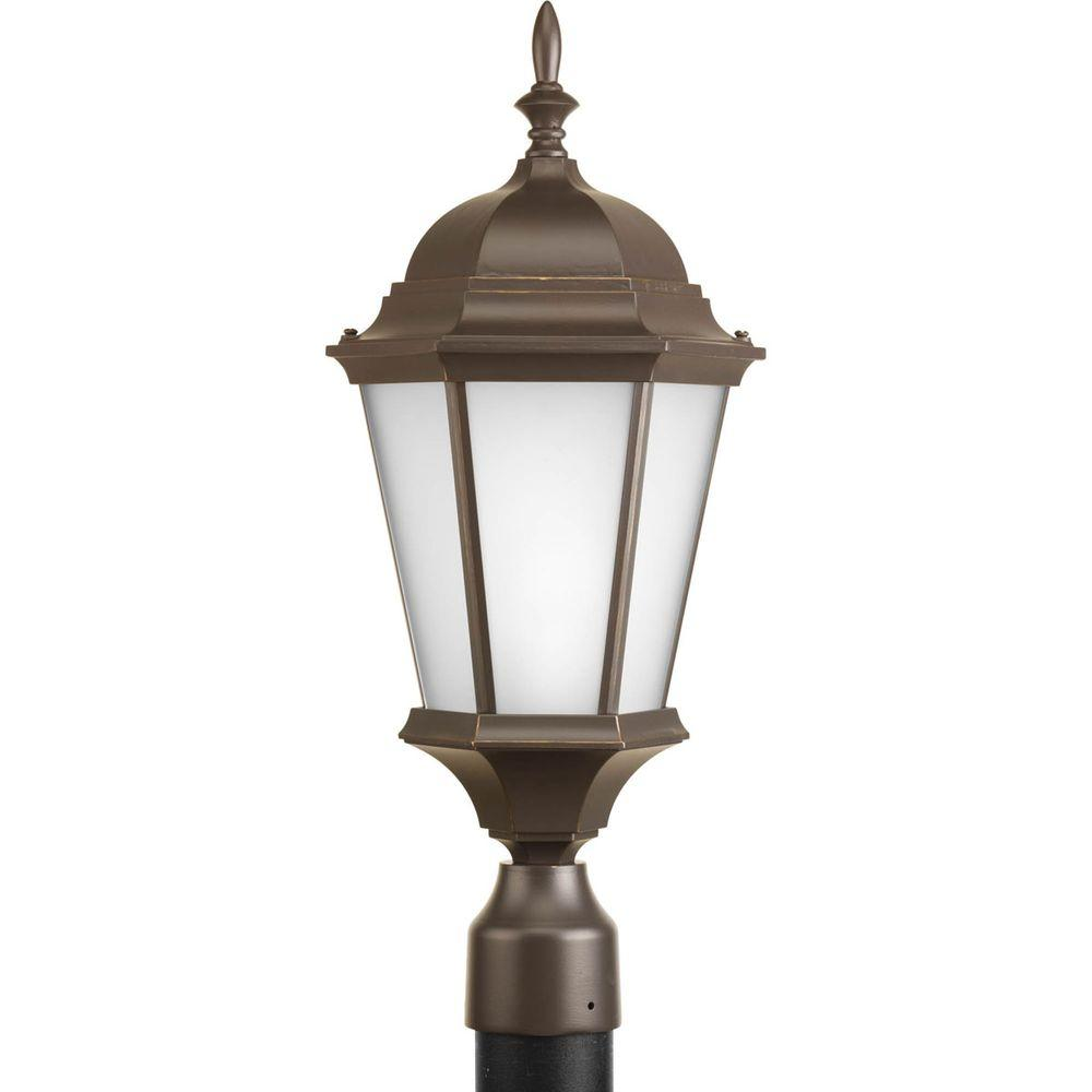 Progress Lighting Welbourne Collection 1-Light Antique Bronze Outdoor Post Lantern