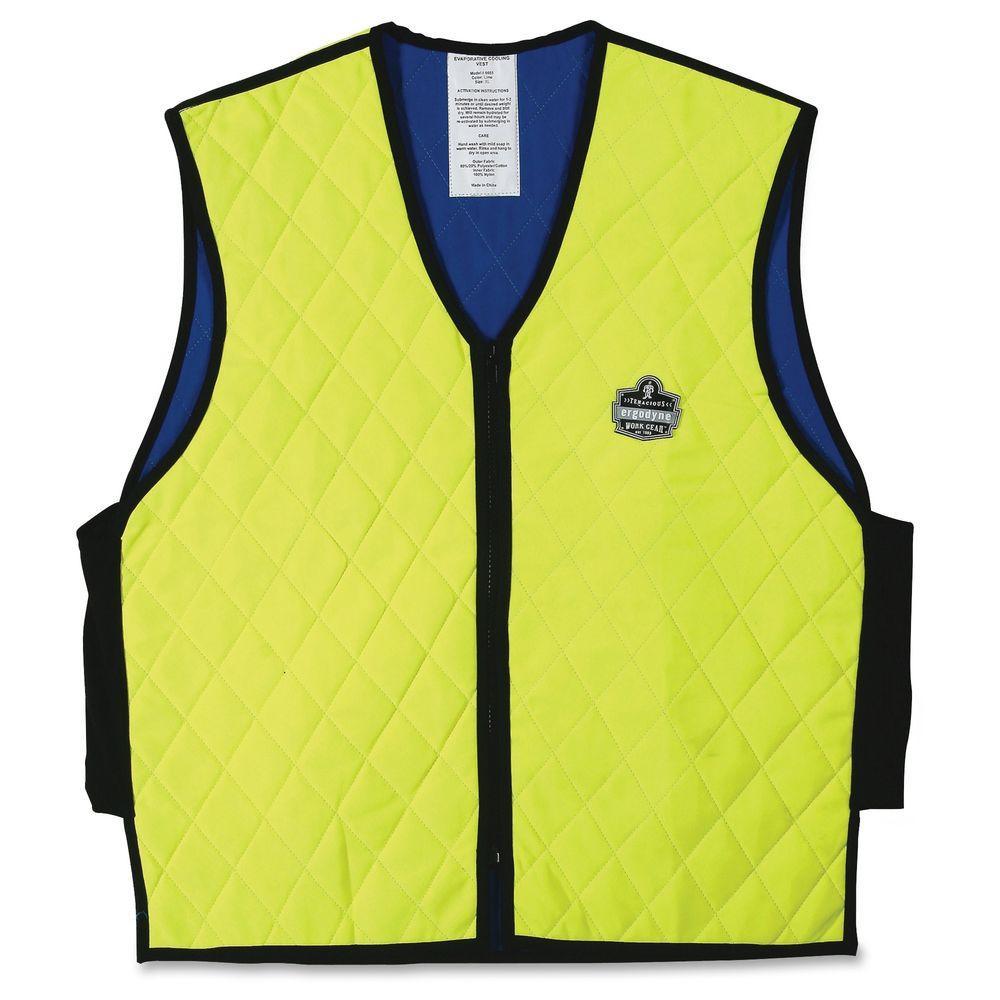 Ergodyne Chill-Its 6665 Evaporative Cooling Vest, Yellows...