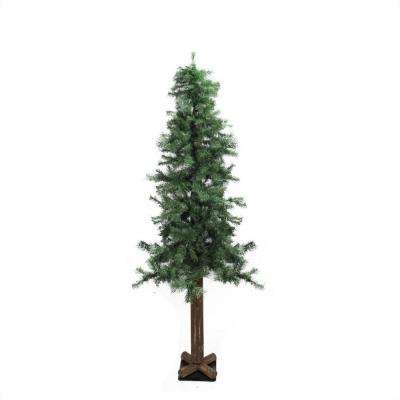 6 ft. Traditional Mixed Green Woodland Alpine Artificial Christmas Tree