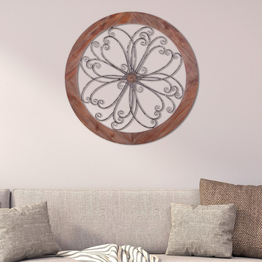 Rustic Decorative Scroll Wooden Wall Art