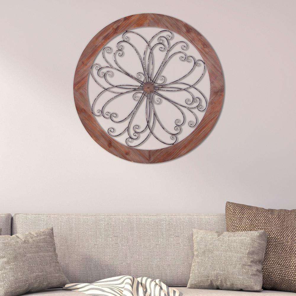 Pinnacle Rustic Decorative Scroll Wooden Wall Art 1712 3803 The