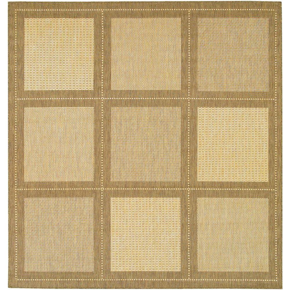 Couristan Recife Summit Natural Cocoa 8 ft. 6 in. x 8 ft. 6 in. Square Area Rug