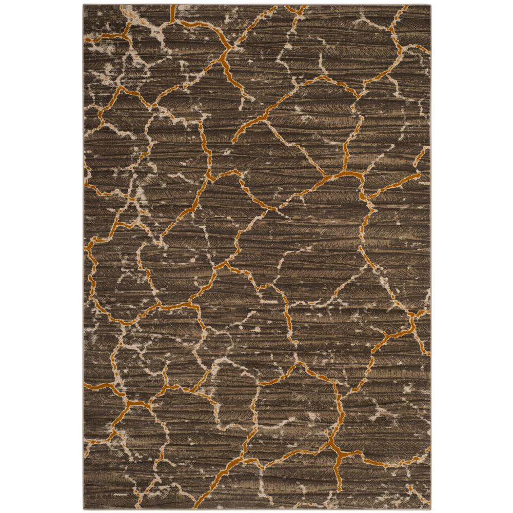 Safavieh Porcello Dark Gray Yellow 6 Ft X 9 Ft Area Rug