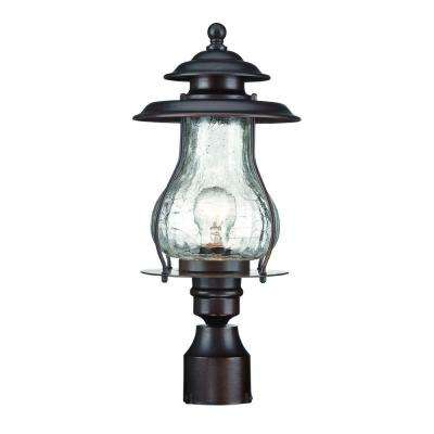 Blue Ridge 1-Light Architectural Bronze Outdoor Post Mount Light Fixture