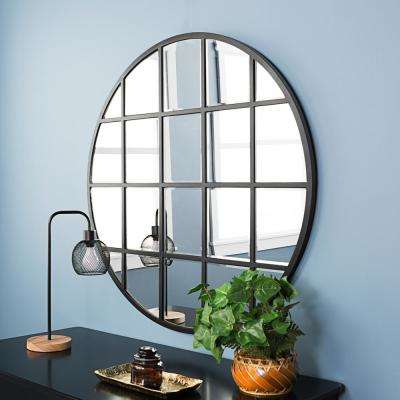 40 in. Round Beveled Window Mirror