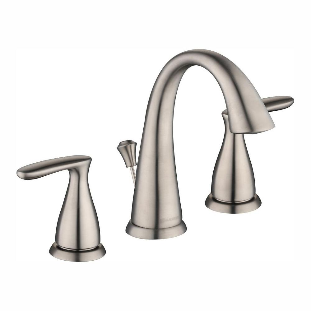 Glacier Bay Meansville 8 in. Widespread 2-Handle High-Arc Bathroom Faucet in Brushed Nickel