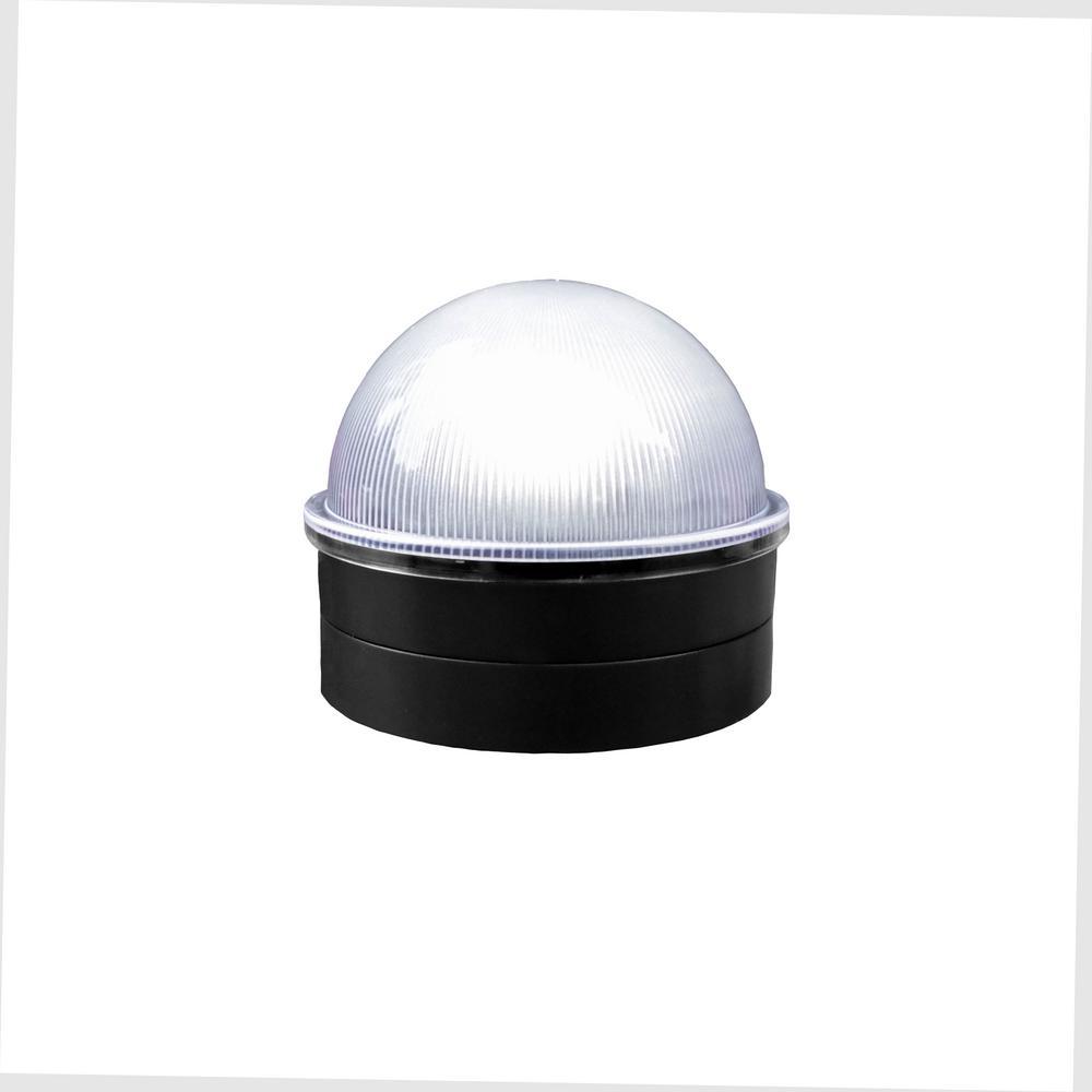 Black Chainlink Summit Solar Post Cap Integrated Led Post Cap (2-Pack)