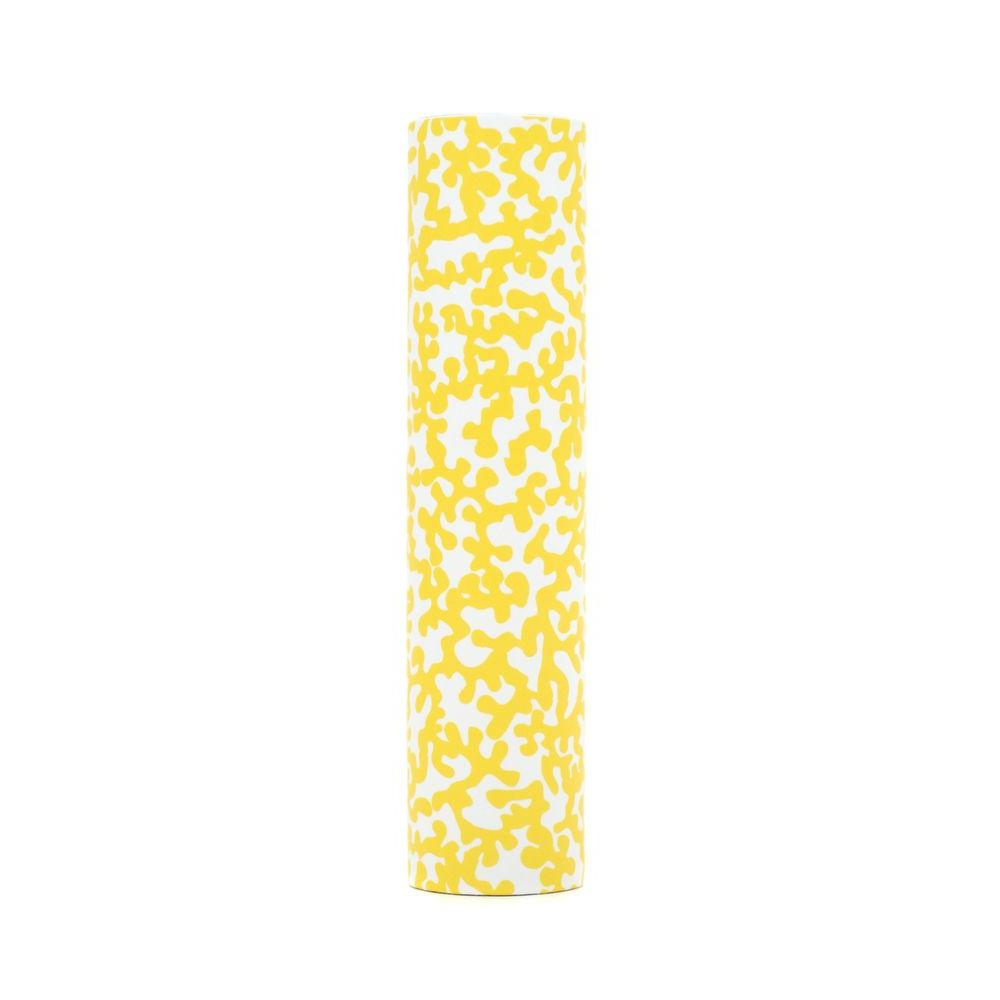 kaarskoker Coral 4 in. x 7/8 in. Yellow Paper Candle Covers, Set of 2