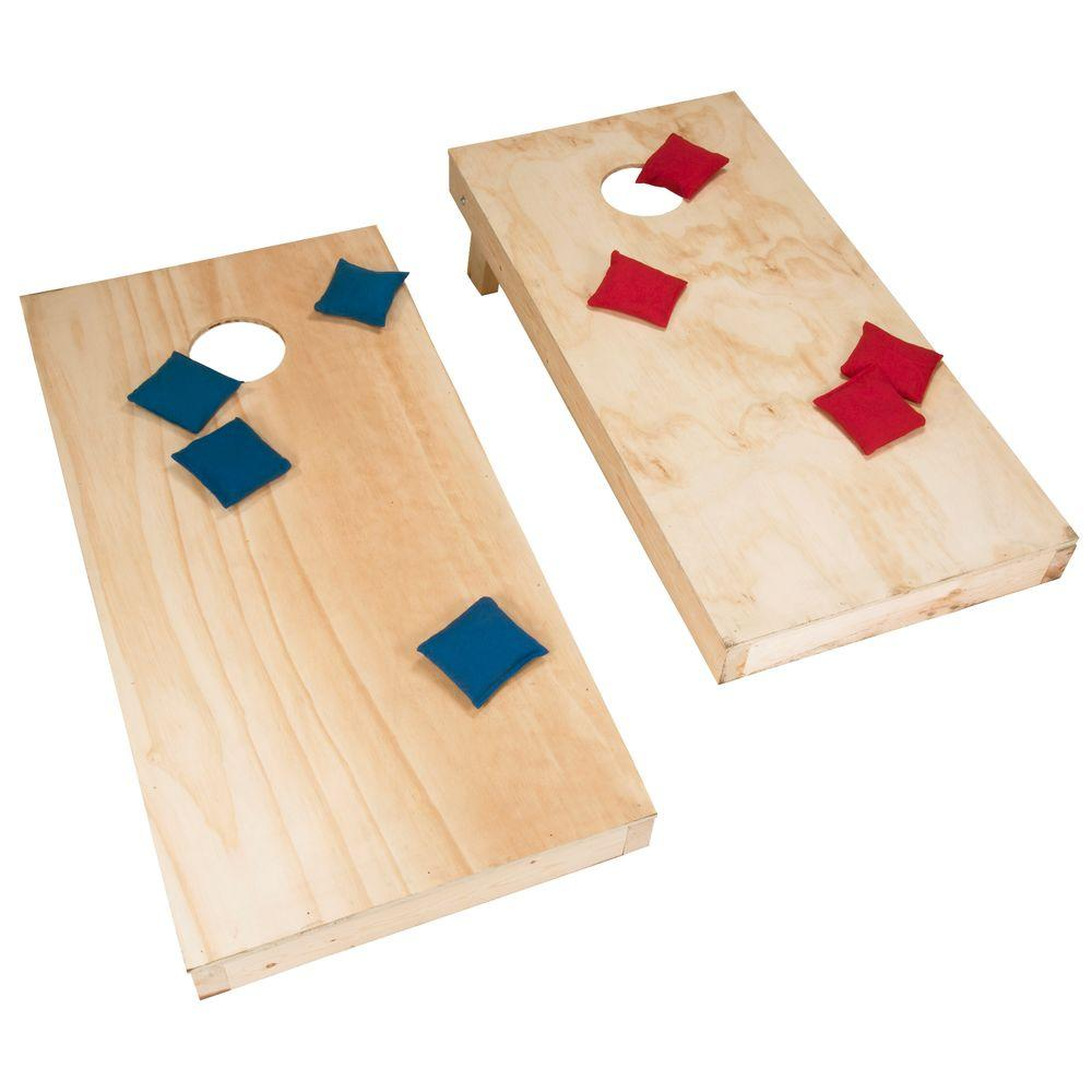Wooden Corn Hole Game DoItYourself Regulation Size Cornhole Boards and BagsM41 15