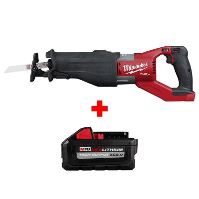 M18 FUEL 18-Volt Lithium-Ion Brushless Cordless SUPER SAWZALL Orbital Reciprocating Saw W/ HIGH OUTPUT XC 8.0Ah Battery
