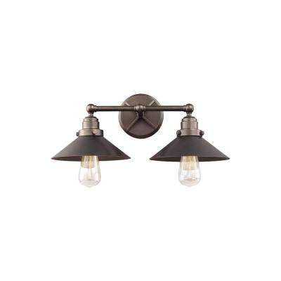 Hooper 2-Light Antique Bronze Bath Light