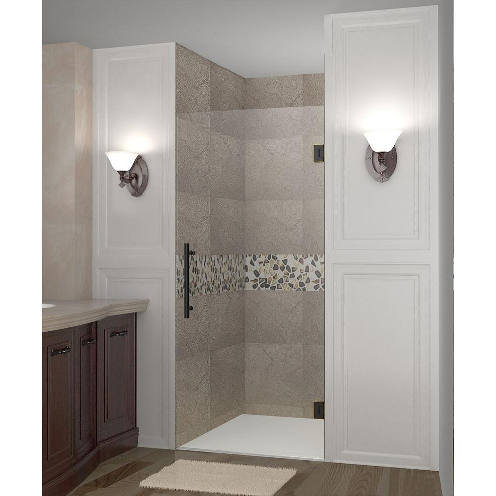 Aston Cascadia 33 in. x 72 in. Completely Frameless Hinged Shower ...