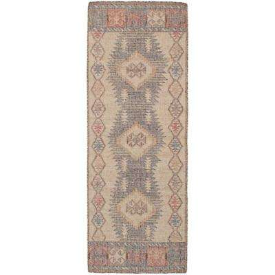 Kozak Brown, Ivory 3 ft. x 8 ft. Indoor Runner Rug
