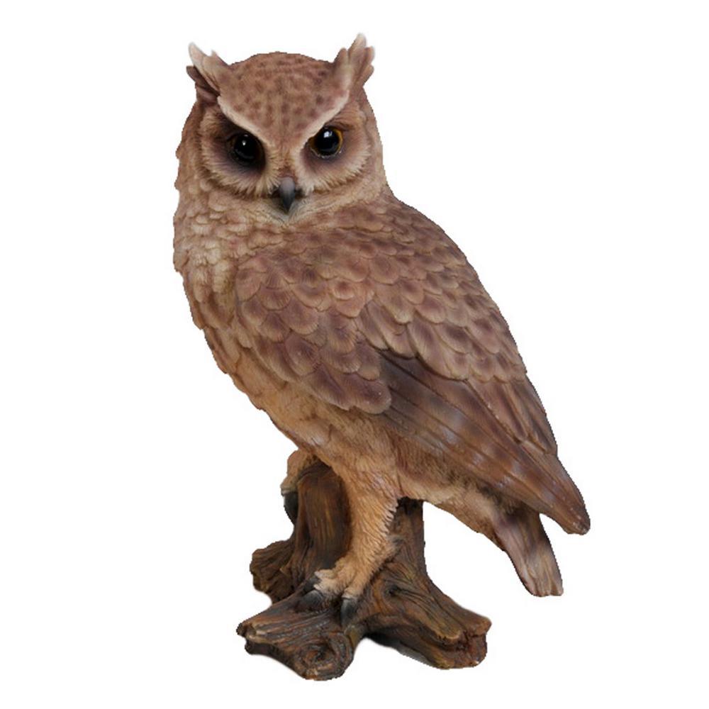 Hi-Line Gift Screech Owl On Stump Garden Statue