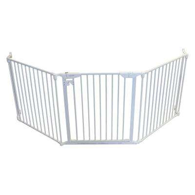 XpandaGate 29.5 in. H x 100 in. W x 2 in. D Expandable Pet Gate in White