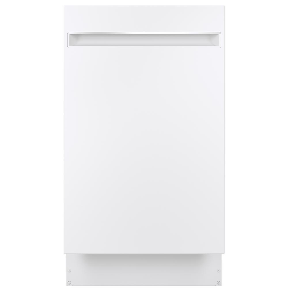 Profile 18 in. Top Control Dishwasher in White with Stainless Steel