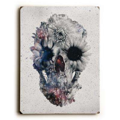 "9 in. x 12 in. ""Floral Skull 2"" by Ali Gulec Solid Wood Wall Art"