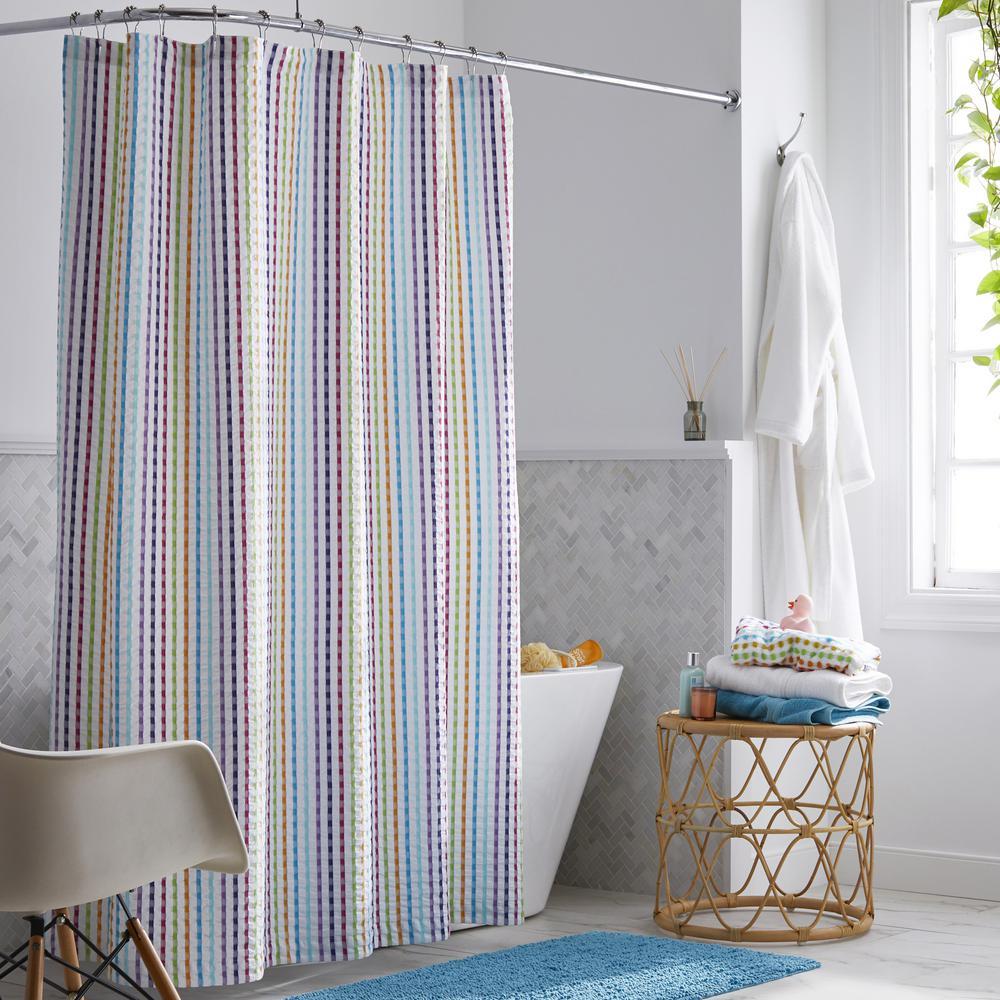 Spectrum 72 in. Multicolored Shower Curtain