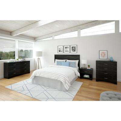 Crescent Point Black Queen Size Headboard