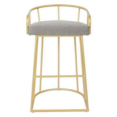 Luna 30 in. Ash with Gold Base Barstool