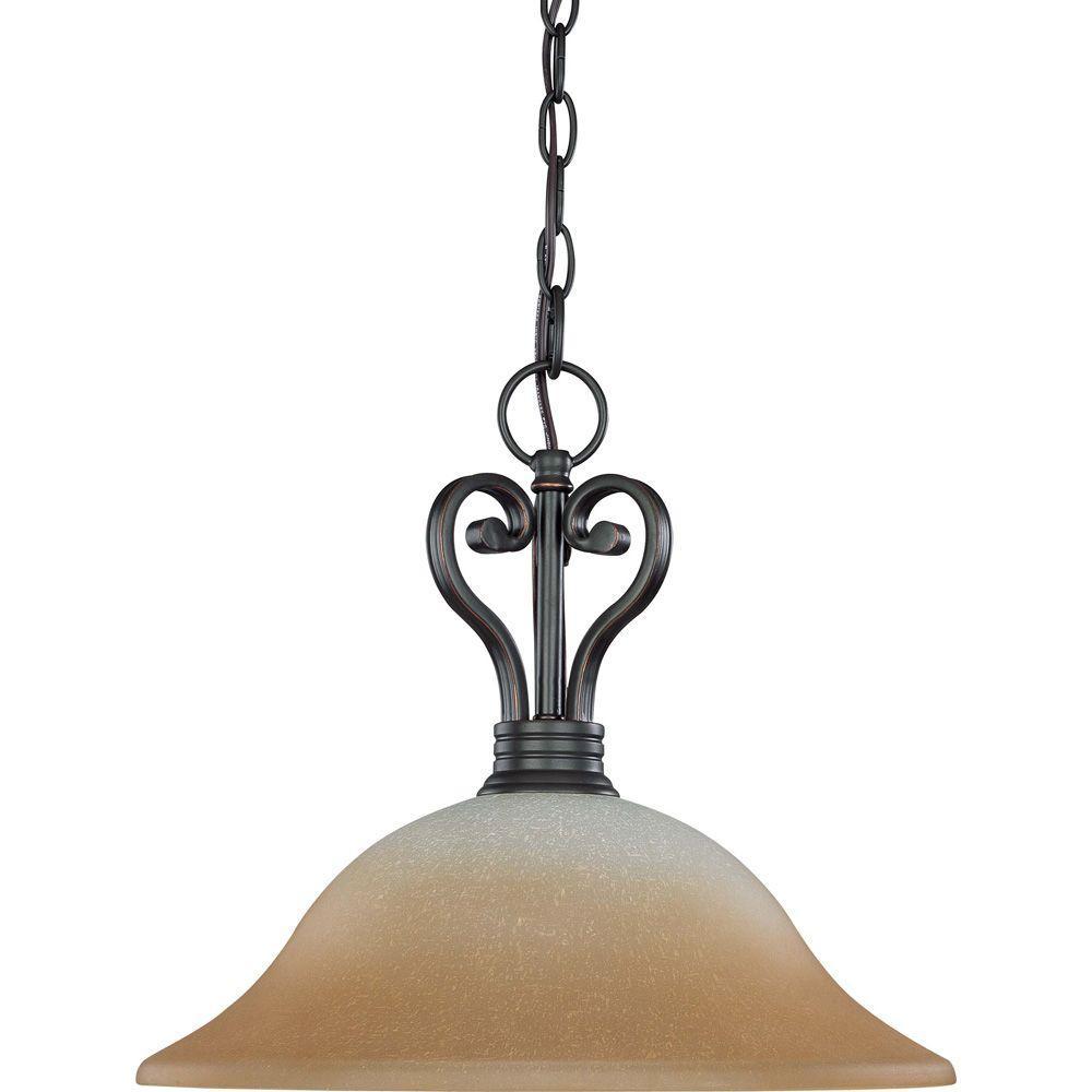 Glomar 1-Light Sudbury Bronze Dome Pendant