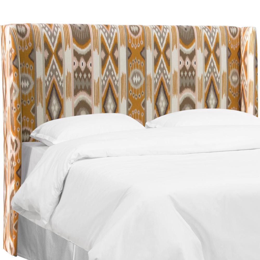 skyline furniture wingback bed | Skyline Furniture Jetsetter Cognac Twin Wingback Headboard ...